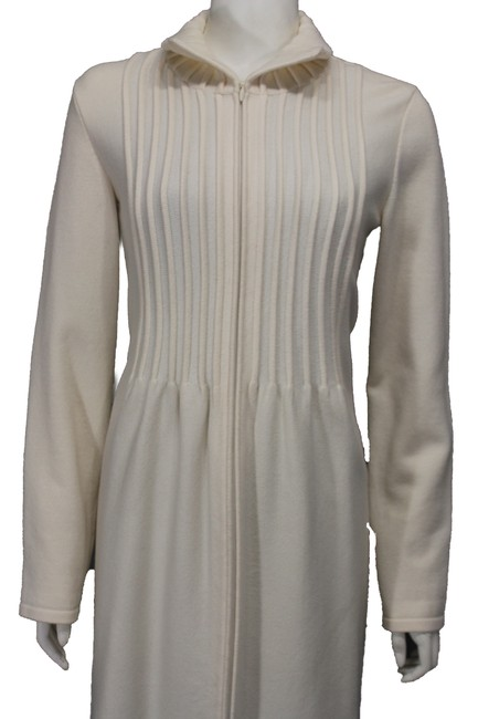 Valentino Beige Wool Blend Woven Trench Coat Image 1