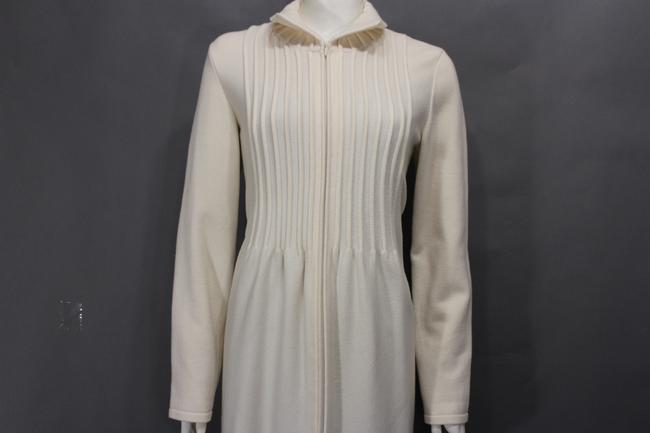 Valentino Beige Wool Blend Woven Trench Coat Image 11