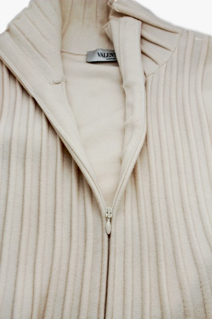 Valentino Beige Wool Blend Woven Trench Coat Image 2