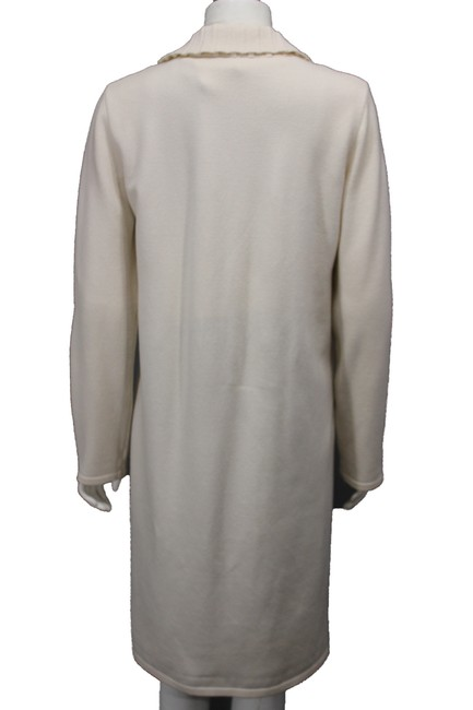 Valentino Beige Wool Blend Woven Trench Coat Image 3