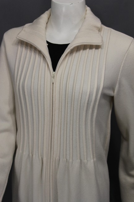 Valentino Beige Wool Blend Woven Trench Coat Image 8