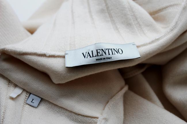 Valentino Beige Wool Blend Woven Trench Coat Image 9
