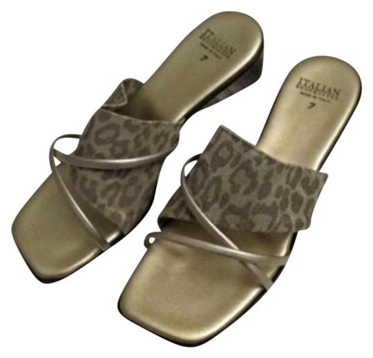 Preload https://item4.tradesy.com/images/gold-and-beige-italian-shoemakers-wedge-sandals-size-us-7-156238-0-1.jpg?width=440&height=440