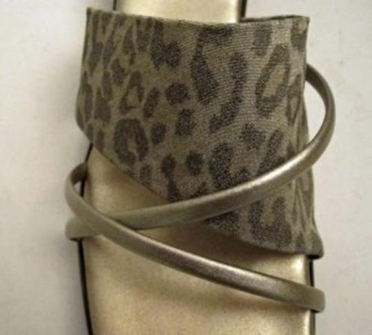 Other Animal Print/ Wedge Made In Italy Gold and Beige Sandals