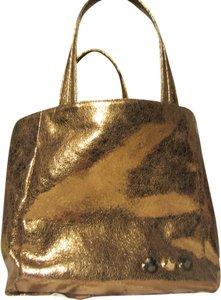 ELEZAR Gold Metallic Tote in Bronze Metallic
