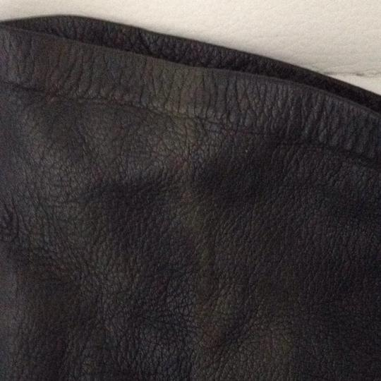 Other Long Black Fitted Leather Gloves Image 1