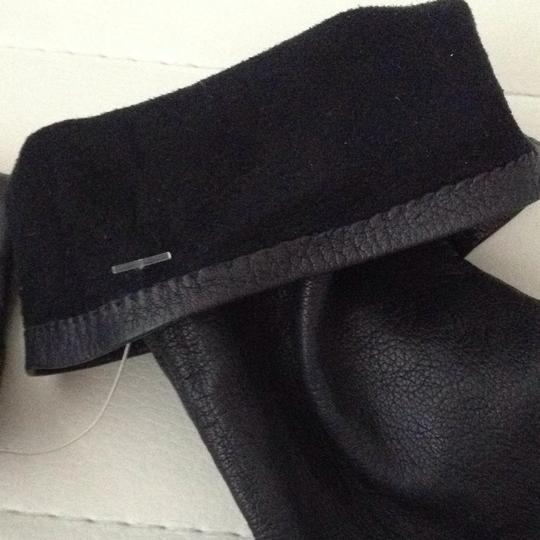 Other Long Black Fitted Leather Gloves Image 5