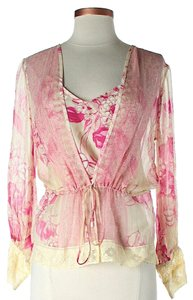 Tracy Reese Silk Floral Layered Top