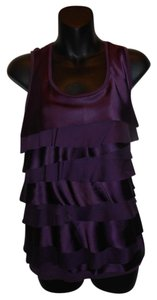 Ann Taylor LOFT Satin Top Purple