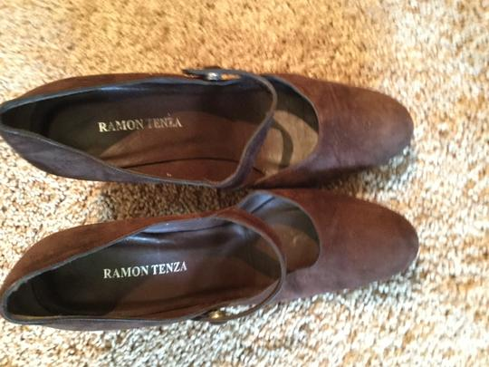 Ramon Tenza Brown suede with multi 4 color heel in suede Pumps Image 1