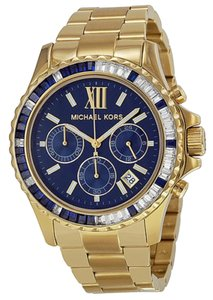 Michael Kors Michael Kors Chronograph Navy Dial Gold-tone Ladies Watch