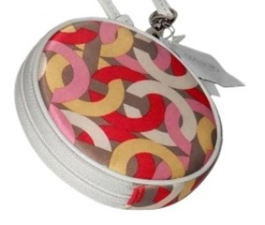 Preload https://img-static.tradesy.com/item/156256/coach-kristin-op-art-chain-coin-purse-with-key-chain-style-f64050-multi-color-coin-lightdark-pink-ye-0-0-540-540.jpg