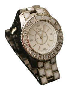 Dior Dior 28mm White tile Christal watch with Diamond Accents