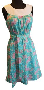 Lilly Pulitzer short dress sea horse by the sea shore Beach on Tradesy