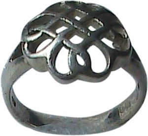 Vintage Sterling Silver Braided Basket Weave ring