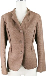 Brunello Cucinelli Linen Jacket Winter Oatmeal Brown Blazer