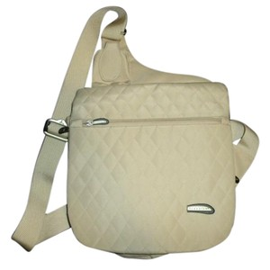 Travelon Quilted Perfect Beige Messenger Bag