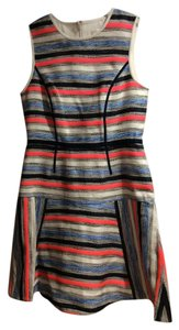 Shoshanna short dress orange blue cream Drop Waist Striped on Tradesy