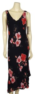 black, pink, red, and beige Maxi Dress by Jones New York