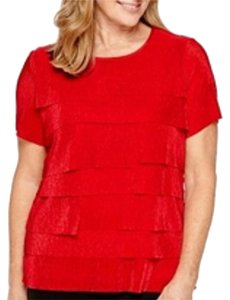 Alfred Dunner Top Red