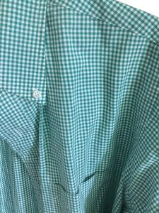 Brooks Brothers Man Prep Spring Preppy Summer Button Down Shirt Green white