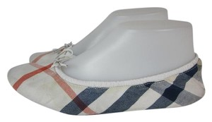 Burberry Travel Check Leather Nova Flats