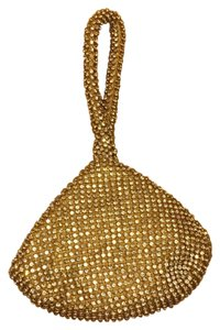 Crystal Wristlet in gold
