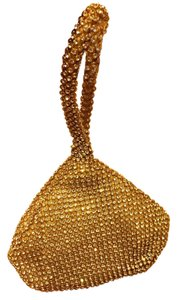 Other Crystal Evening Wristlet in gold