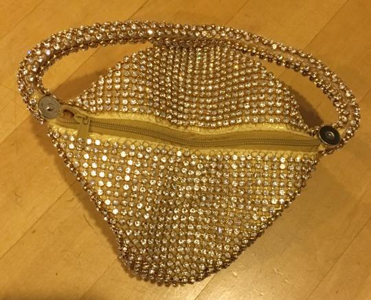 Other Crystal Evening Wristlet in gold Image 5