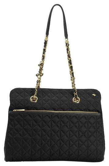 Preload https://item2.tradesy.com/images/juicy-couture-larchmont-quilted-chain-black-nylon-with-leather-trim-tote-1562726-0-0.jpg?width=440&height=440