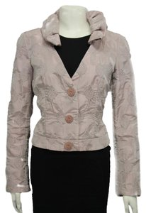 Giorgio Armani Leaf Coat Fashion Short Metallic Light Pink Medium Size Metallic pink Jacket