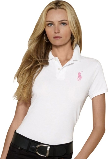 Polo Ralph Lauren T Shirt White And Pink