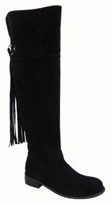 Yoki Riding Over The Knee Fringe Leather Boots