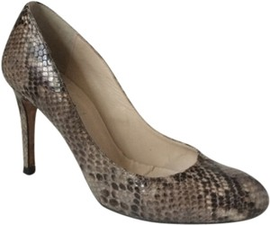 L.K. Bennett Grey Snakeskin Pumps