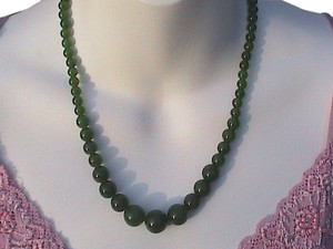 Green Hetian Jade Necklace (item# 1)