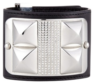 Rebecca Minkoff New! Rebecca Minkoff Studded Crystal Pave White Leather Bracelet
