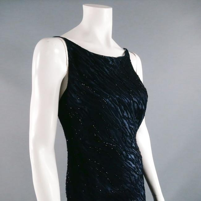 Carmen Marc Valvo Beaded Evening Gown Exposed Backless Dress