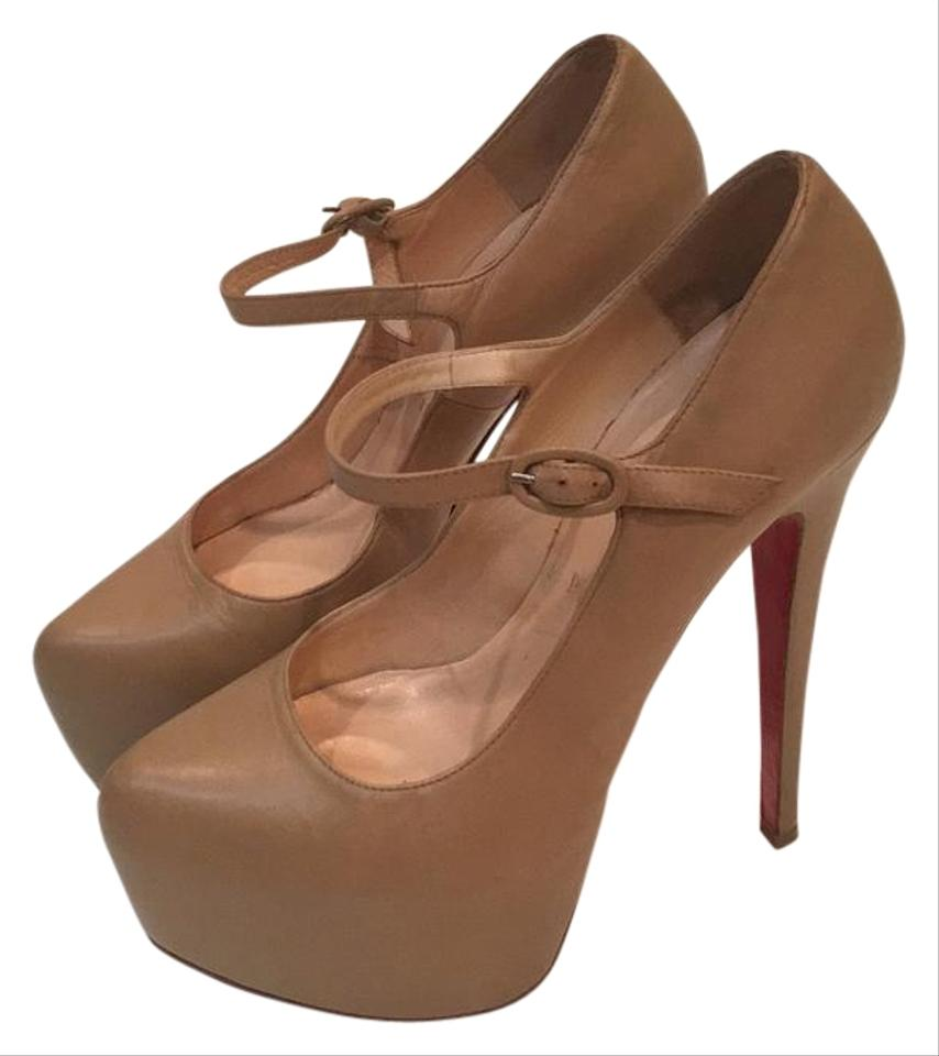 Christian Louboutin Nude Jane Lady Daf Mary Jane Nude 160 Platforms ee0a5b