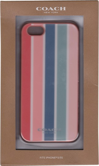 Coach Coach Pink Hardshell Multistripe Case Cover iPhone 5/5S