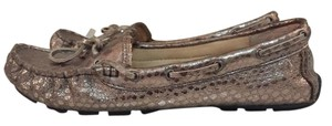 Vince Camuto Metallic Loafers Driver's Heel Gold Flats