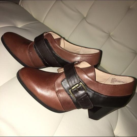 Liz & Co. Black & Brown Combo Mules Image 1