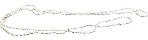 aafa827f83955 PANDORA Sterling Silver Rice Bead Chain Necklace 28% off retail