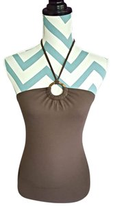 Old Navy Fitted Soft Stretchy Brown Halter Top