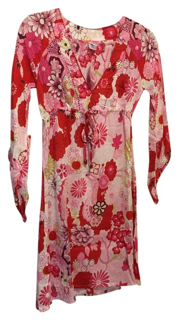 Preload https://img-static.tradesy.com/item/15629110/pink-flower-chach-bisance-print-beach-cover-up-mini-short-casual-dress-size-4-s-0-1-650-650.jpg