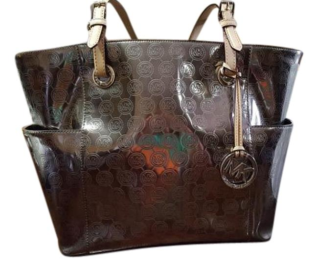 Item - Metallic Silver/ Nickel Patent Leather Tote