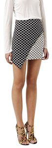 Bec & Bridge Mini Skirt Black / White