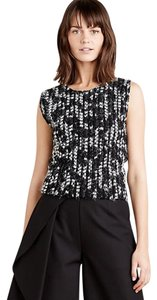 Anthropologie Wear To Work Spring Tribal Top Black White