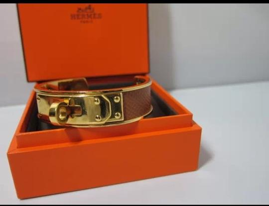 Hermès Authentic Hermes *Kelly* Bangle Gold