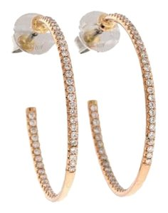 Other 18k Rose gold & white gold 3/5 ct Diamond inside-out hoop earrings