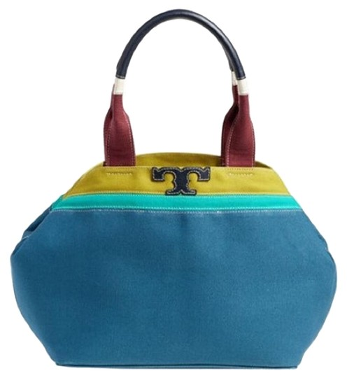 Preload https://img-static.tradesy.com/item/15629605/tory-burch-t-serif-mini-colorblock-blue-jay-canvas-tote-0-1-540-540.jpg